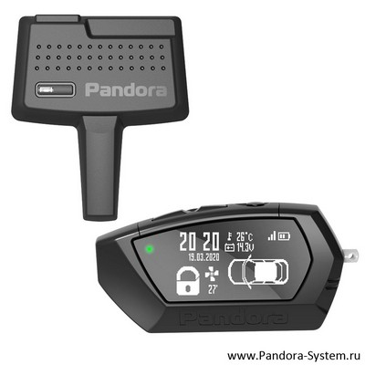 OLED-брелок Pandora D-023 + RF-модуль DXL 470